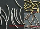 New 40/60/100pcs Silver/Gold/Copper Long Tube Spacer Beads For Jewelry Making