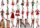 Ladies Christmas Tights Stockings Hat Santa Elf Fancy Dress Costume Accessories