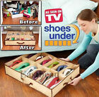 NEW 12 Pairs Shoe Store Box Under Bed Shoes Organise Storage Tidy Fabric Bag Box