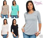 Ladies Plain Jersey Half Sleeve Jumper Top One Size UK 10/12   24h Dispatch 964
