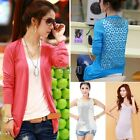Fashion Women Long sleeves Cardigan Knitwear Sweater bottoming shirt Vest Tops
