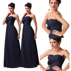 Chiffon Long Sexy Vintage Formal Cocktail Bridesmaid Evening Party Gowns Dresses
