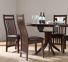 Dark Hudson & Java Extending Dark Wood Dining Table and 4 6 Chairs Set (Brown)