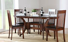 Dark Townhouse & Oxford Oval Extending Dining Table and 4 6 Chairs Set (Brown)