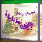 Large Santa Claus Christmas Deer Shop Window Wall Art Decoration Sticker Decal N