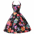 NEW Retro Vintage Women's Pinup Floral Swing Flower Print Prom Party Ball Dress