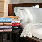 Luxury Satin Solid Twin-size Sheet Set
