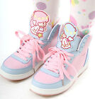 Cutie Kawaii Decora Pastel Candy Pink Purple Hi Top Sneaker Boot Girl Teen Adult