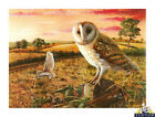 Tuftop Glass Chopping Board Barn Owls Birds Theme Kitchen Worktop Saver 3 Sizes