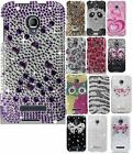 For Alcatel One Touch Fierce Hard Snap On Full Diamond Cover Case Accessory