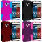 Color Hybrid Mesh Rugged Hard/Silicone Skin Case Cover for Motorola Moto X