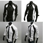 Business Mens Slim Delicately Made Stylish Patched Dress Shirts P&J