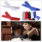 Women's Noble Satin Party Dress Prom Evening Wedding Bridal Long Finger Gloves