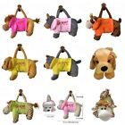 Various Animal Design Baby kids Plush Toys Soft Lovely Handbag Zipper Bag Pocket
