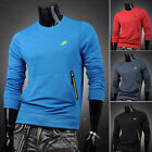 2014 Cool Men's Comfy  Casual Sports Long Sleeve Crew Neck Pullover Sweater XS~L