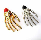 Punk goth biker gothic vintage skull claw skeleton hand ring multiple choices