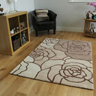 Beige Shabby Chic Pretty Rose Petal Floor Carpet Soft Thick Quality Cheap Rugs