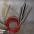 """ChiaoGoo Knit Red Lace Stainless Steel Circular Knitting Needles 24"""" Size 0 - 19"""