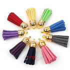 Bluk Colors Jewelry Handmade DIY Leather Tassel For Phone Charms Straps Pendants