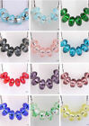 Bulk European Murano Glass Faceted Loose Spacer Beads For Jewelry DIY Bracelete