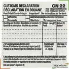 Self Adhesive Customs Declaration Forms Label CN22 - Various Quantities