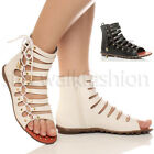 WOMENS LADIES PEEP-TOE CUT OUT LACED ANKLE ZIP STUDDED SANDALS SIZES