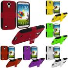 Color Hybrid Mesh Hard/Soft Case Cover Stand for Samsung Galaxy S4 SIV i9500