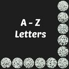 100 Pcs WHITE Acrylic Single Letter Coin Beads A - Z Disc Alphabet Bead 7mm ML
