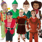 Toddler Costume Boys Storybook Book Week Halloween Kids Fancy Dress Outfit + Hat