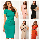 New Women Ladies OL Slim Evening Party Bodycon Retro Fitted Pencil Dress