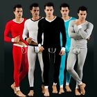 Men's Solid Modal Thermal Underwear Set Tank Top Shirt Or Pants Leggings S-L