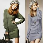 New Ladies Long Sleeve Sweater Cashmere Cardigan Womens Pullover Dress Tops E