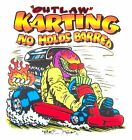MONSTER OUTLAW KART RACING NO HOLDS BARRED GO KARTING RACER T-SHIRT