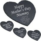 Personalised Heart Slate Cheese Board Mum Mummy - 1st Mothers Day Gift Engraved