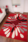 THICK RED IVORY CREAM BLACK GREY MODERN CARVED LARGE FLOOR RUG TORONTO 2 SIZES