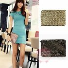 Fashion Sequins Clutch Evening Party Bag Handbag Glitter Sparkling Bling Purses