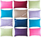 New Pair Of Soft Plain Dyed Pillow Case Free Postage