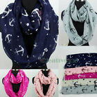 Fashion Anchor Hook Viscose Infinity 2-Loop Cowl Eternity Endless Casual Scarf