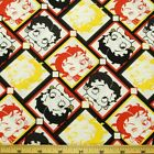 Betty Boop Smiling And Winking Diamond Patchwork 100% Cotton Fabric