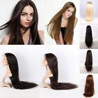 "14""-30"" AAAA Women's Long 100% Real Silky Remy Indian Hair Human Front Lace Wigs"