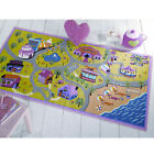 Matrix Kiddy Girls World Flair Rugs Map Play Road Children Kids Pink Mat Rug