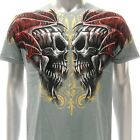 a71g M L XL XXL Artful T-shirt Tattoo Skull Twin Ghost Double Demon Devil Heaven