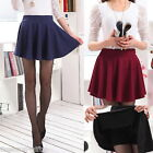 Korean Womens High Elastic Waist Pleated Skirt Short Dress Pantskir M2395
