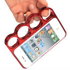 Plastic Brass Knuckles Snap Lightweight Rim Bumper Cover Case For iPhone 4 4S