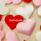 100 Padded Satin Heart Wedding Table Scatters Applique Craft Scrapbooking Decor