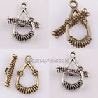 15sets New Retiro ancient Silver Water-drop Clasp Hook Findings For Jewelry DIY