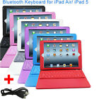 Wireless Built-in Bluetooth PU Leather Keyboard Case Stand For Apple iPad Air 5