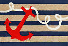 "AREA RUGS - ""ANCHOR BAY"" RUG - INDOOR OUTDOOR NAUTICAL RUG"