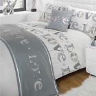 Love Silver Grey Cream Patterned Bed in a  Bag Duvet Quilt Cover Bedding Set