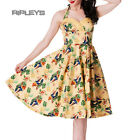 HELL BUNNY 50s DRESS Tropical SASSY YELLOW Sand Vintage Rocka Pin Up All Sizes